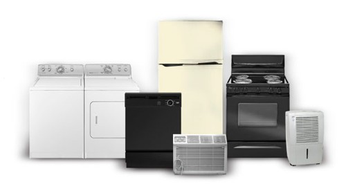 We can pickup, remove, dispose of, and recycle your air conditioner, hot water heater, dishwasher, microwave oven, stove, refrigerator, or clothes dryer washing machine set.