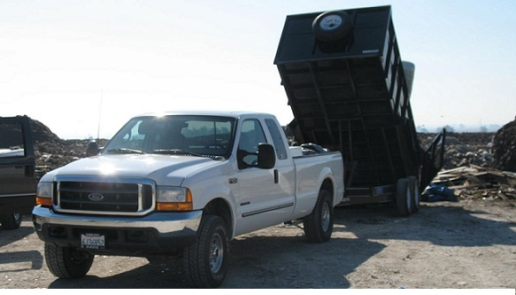 Our 20,000 pound dump trailer and heavy duty pickup trucks can handle any construction jobsite clean up project including removal and recycling of rock, dirt, concrete, and cement.