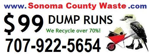 Sonoma County Waste is not a problem for the junk removal team at Cheap Dump Runs (dot com). Call us anytime for waste hauling in Sonoma County, CA.